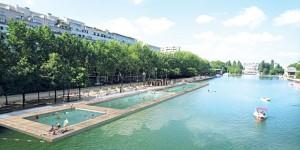 Paris Plages et baignade au parc de la Villette