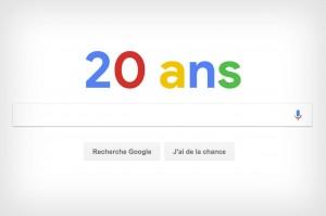 Moteur de recherche Google 20 ans