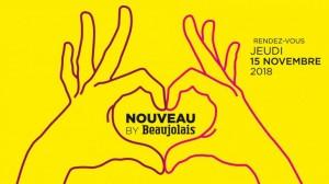 Affiche du Beaujolais Nouveau 2018 - Main en coeur