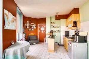 Pièce à vivre avec cuisine ouverte