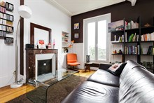 Monthly rental of furnished, comfortable 2 room apartment for 4 at Montrouge near Paris at Porte d'Orleans
