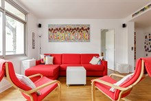 Furnished short-term rental 4-room apartment for 5-7 between Montparnasse and Montsouris in Alésia quarter, Paris 14th