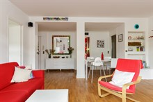 4-room furnished apartment for five to seven available for monthly rent between Montparnasse and Montsouris in Alésia quarter, Paris 14th