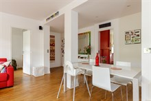 Weekly rental of spacious, furnished 4-room apartment w terrace between Montparnasse and Montsouris in Alésia quarter near catacombs, Paris 14th