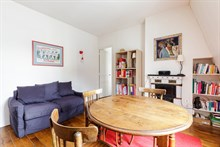 Furnished short-term rental 2-room apartment for 2 in Reuilly Diderot quarter, near Saint Antoine hospital , Paris 12th