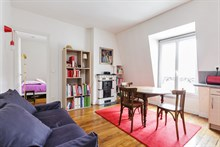 2-room furnished apartment for two available for monthly rent in Reuilly Diderot quarter, near Saint Antoine hospital , Paris 12th