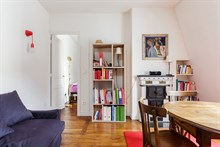 Weekly flat rental for two, furnished, in Reuilly Diderot quarter, near Saint Antoine hospital , Paris 12th