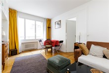 2-room furnished apartment for two available for monthly rent near Porte Maillot On rue Pergolèse, Paris 16th