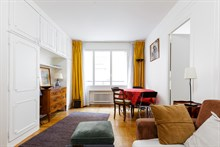 Fabulous weekly flat rental, furnished with 2-rooms near Porte Maillot on rue Pergolèse, Paris 16th