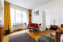 Temporary apartment rental, 1 bedroom, perfect for 2 people near Porte Maillot on rue Pergolèse, Paris 16th