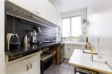 Short-term rental of a generously-sized, furnished apartment for 2 near Porte Maillot on rue Pergolèse, Paris 16th