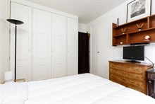 Short-term rental in a 2-room, furnished and fully equipped flat for 2 near Porte Maillot on rue Pergolèse, Paris 16th