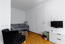 2-room furnished apartment two to four available for monthly rent rue du Commandante Mouchotte At Gaîté, Paris 14th