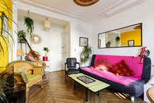 Furnished short-term rental 2-room apartment for 2 at Bastille, Paris 11th