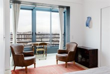 Entirely furnished and equipped apartment for 2 available for short-term rental in Gobelins in Historic Latin Quarter, Paris 13th