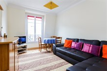 Family vacation apartment rental w 1 bedroom and foldout couch Paris 15th