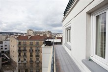 Weekly apartment rental w furnished terrace on avenue Victor Hugo at Boulogne Ballancourt
