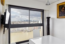 Monthly rental of a 2-room apartment for 2 in a modern building w View of Eiffel Tower in Beaugrenelle quarter, Paris 15th