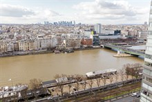 Fabulous weekly flat rental, furnished with 2-rooms w View of Eiffel Tower in Beaugrenelle quarter, Paris 15th
