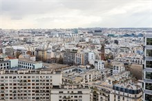 Beautiful weekly flat rental, furnished with 2-rooms w View of Eiffel Tower in Beaugrenelle quarter, Paris 15th, rue Javel