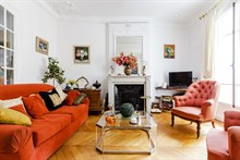 Romantic apartment rental for couples getaway or honeymoon stays, near Moulin Rouge, Paris 18th