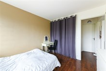 Romantic getaway for 2 in short term apartment rental with balcony at Exelmans, Paris 16th