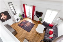Holiday rental of duplex flat in Paris near the Chinese quarter, rue de Tolbiac, Paris 13th arrondissement, monthly rental