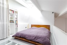 Modern short term duplex apartment rental for 4 to 6 people near Montsouris park, rue de Tolbiac, Paris 13th arrondissement