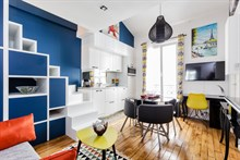 Furnished short-term rental one bedroom for two in Alésia, Paris fourteenth district 14th arrondissement