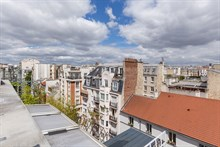 Romantic fully furnished duplex apartment rental for monthly rental with terrace sleeps 2 guests at Nation Paris 11th
