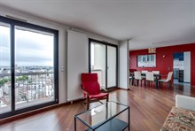 Luxury apartment for short term weekly or monthly rental sleeps 6 with 2 bedrooms and a balcony at Saint Ouen, France