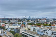 Fully furnished apartment for 4 to 6 guests great for business stays or short term getaways, panoramic city view for 6 guests at Saint Ouen, France