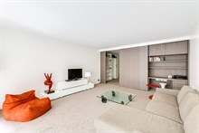 2 guest or 4 guest luxury apartment rental w balcony near l'arc de Triomphe and Champs Elysees in Neuilly-Sur-Seine, France