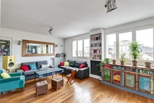 Luxury family apartment for 5 people, 3 bedrooms, balcony near Saint-Lazare at la Garenne-Colombes