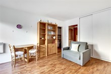 Furnished rental short term large studio for two in Balard Porte de Versailles Paris fifteenth district 15th arrondissement