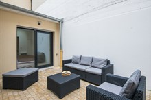 Weekly furnished rental luxury two bedroom with terrace on rue Saint Charles Paris Beaugrenelle fifteenth district / 15th arrondissement