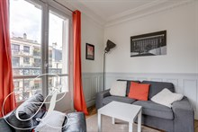 Monthly furnished rental luxury one bedroom with balcony recently refurbished for two in Beaugrenelle, Charles Michel Paris fifteenth district 15th arrondissement