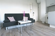 Studio for rent furnished for 2 Paris 17e boulevard Pereire