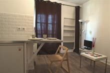 Seasonal furnished rental studio for 2 boulevard Pereire Paris 17th