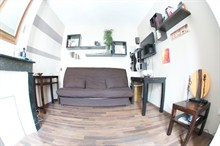To rent furnished apartment for 2 Batignolles 17th Paris