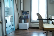 Short term furnished rental studio for 2 Paris Batignolles 17th