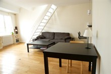 Comfortable accommodation for 4 in short-term rental duplex, rue de la Petite Truanderie, Paris 1st