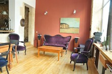 short term rental of remodeled duplex for 4 in Montmartre paris 18th