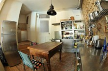 seasonal rental duplex for 4 guests 2 BR 800 sq ft montmartre paris 18th district
