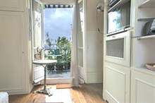 furnished studio for rent with terrace sleeps one guest in paris wagram xvii