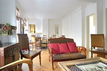 Short-term rental of a furnished duplex 4 bedrooms on rue Saint Charles Paris 15th