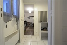 Seasonal rental apartment for 2 guests 215 sq ft avenue de Clichy 17th district