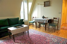 splendid short term rental apartment for 2 guests Avenue D'Iéna Paris 16th district