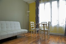 Spacious, furnished 2-room weekly rental at rue Paul Bert, Paris 11th