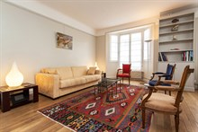 Holiday rental for 4 in the Swiss Village, Paris 15th, furnished w/ 2 rooms